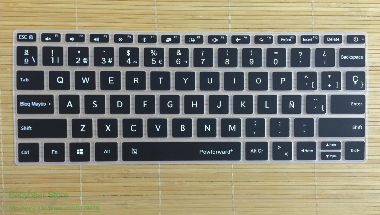 powforward spanish silicone laptop keyboard cover for xiaomi mi notebook air 13 3 13 12 5 12 pro. Black Bedroom Furniture Sets. Home Design Ideas