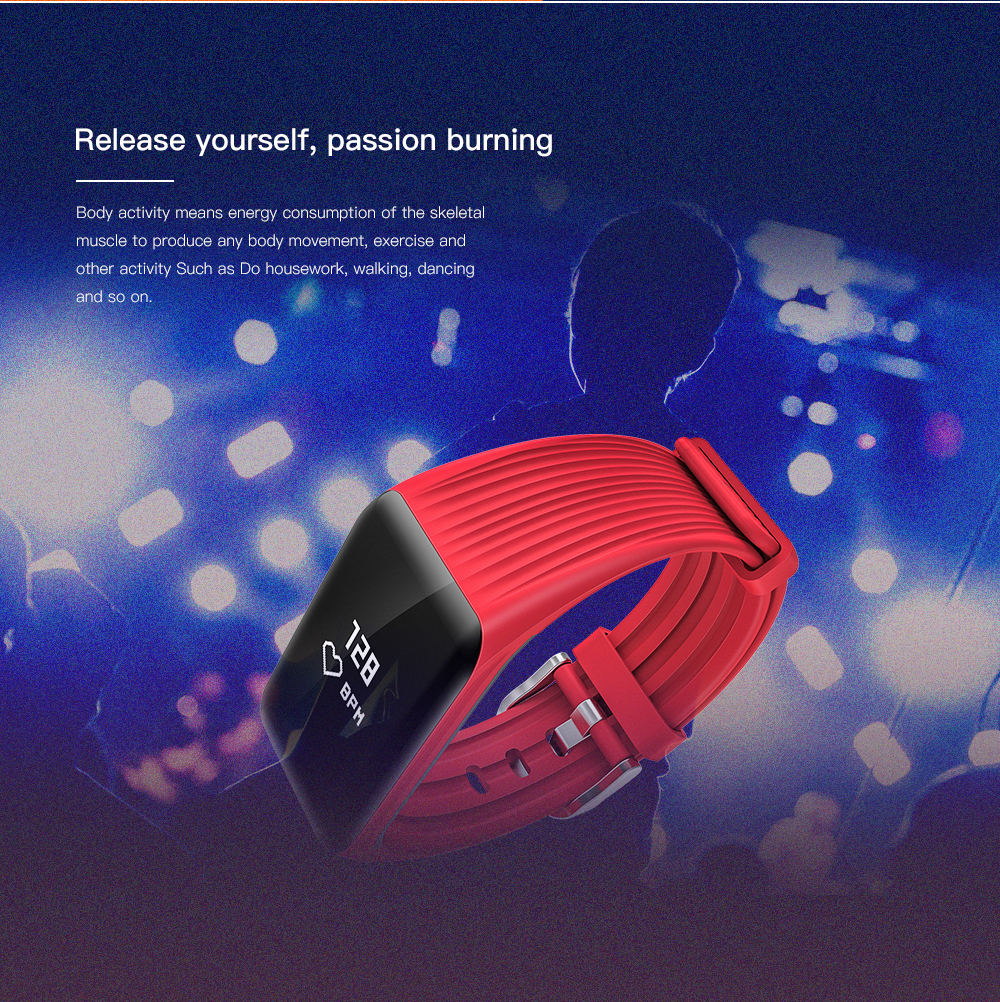 wearpai real-time FitnessTracker Watch IP68 Waterproof Wireless Smart  Bracelet with Continuous Heart Rate Monitor VS FITBIT
