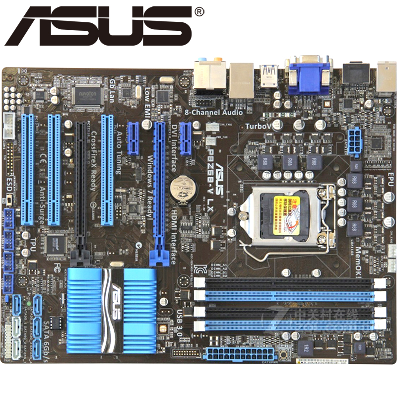 Asus P8Z68-V LX Desktop Motherboard Z68 Socket LGA 1155 i3 i5 i7 DDR3 32G  ATX UEFI BIOS Original Used Mainboard On Sale