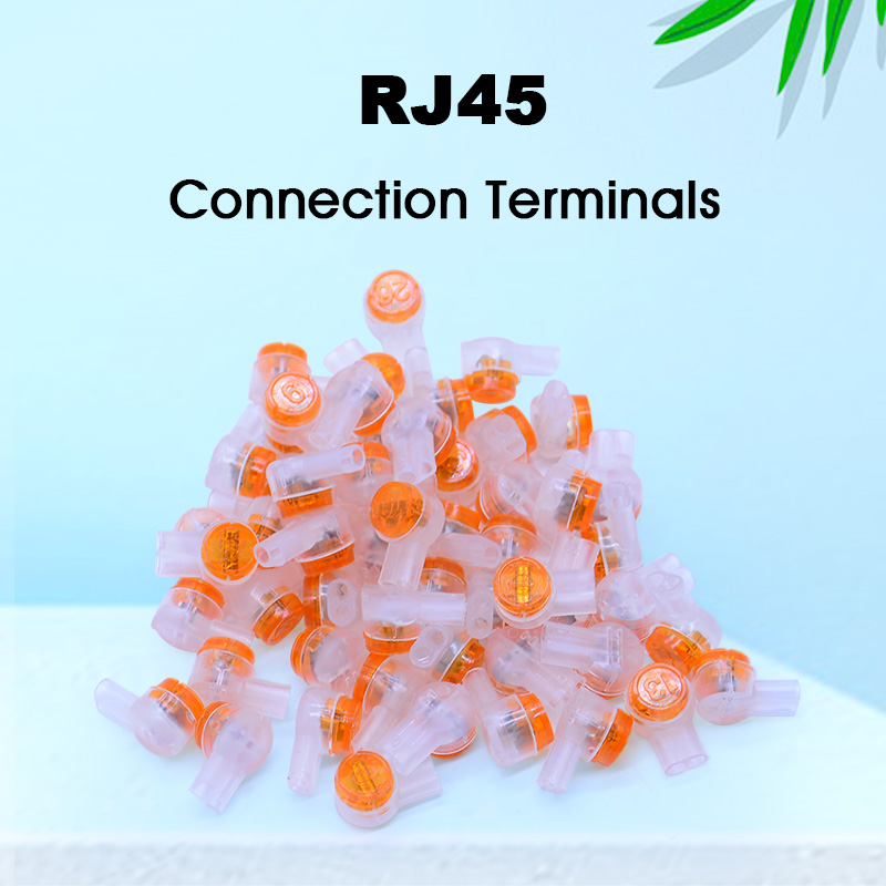 150pcs/Bag Rj45 connector crimp connection terminals k1 connector waterproof wiring ethernet cable telephone