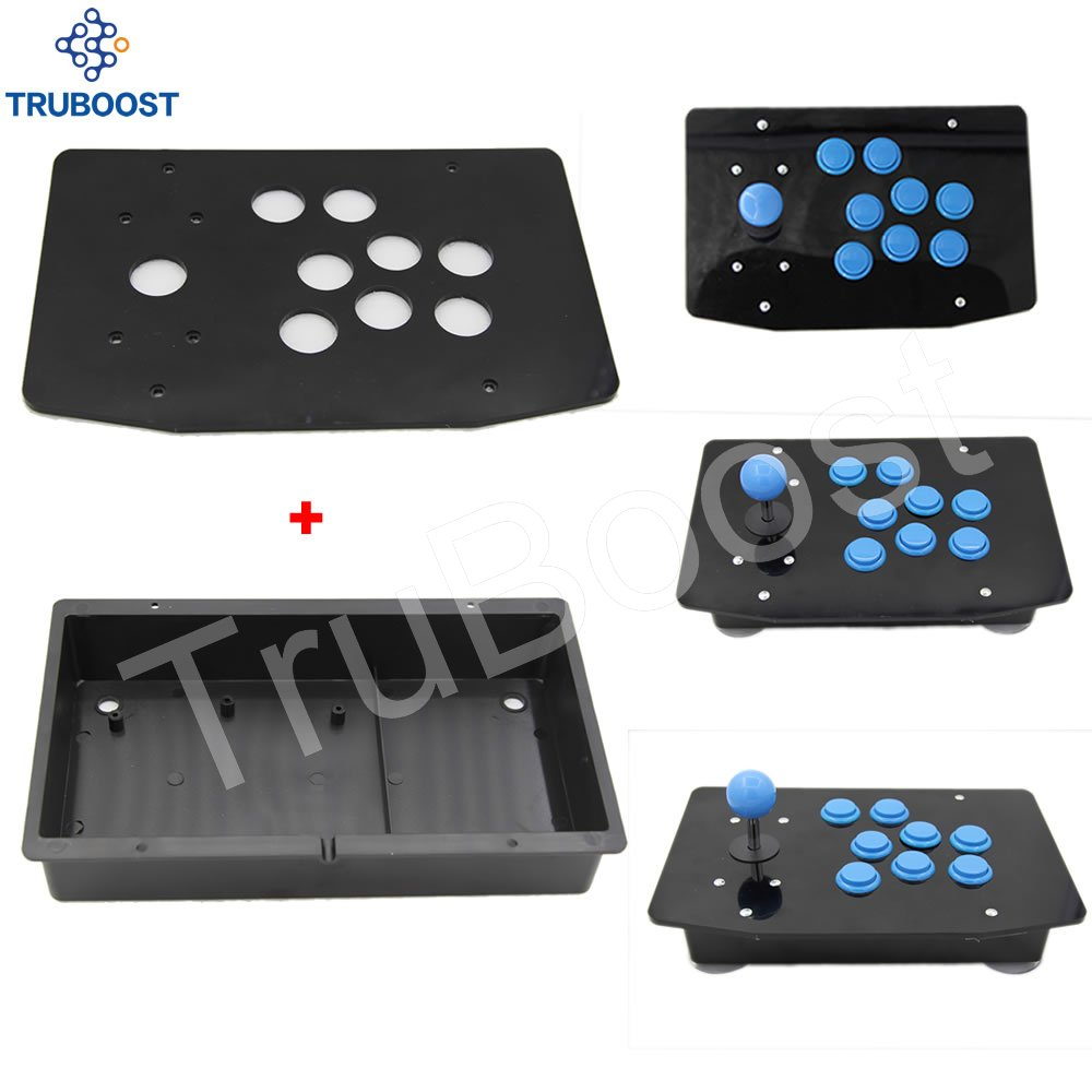 DIY Handle Arcade Set Kits Replacement Part Arcade joystick Acrylic Panel and Case