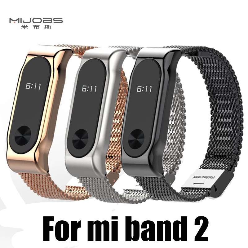 Metal Strap For Xiaomi Mi Band 2 Screwless Stainless Steel