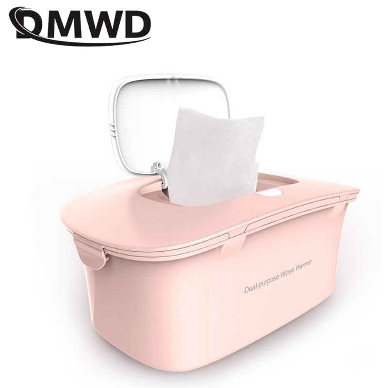 DMWD 220V 8W Portable Baby Wipes Heater For Winter Wet Towel Dispenser Top Thermostatic Heating Wet Tissue Wipes Machine