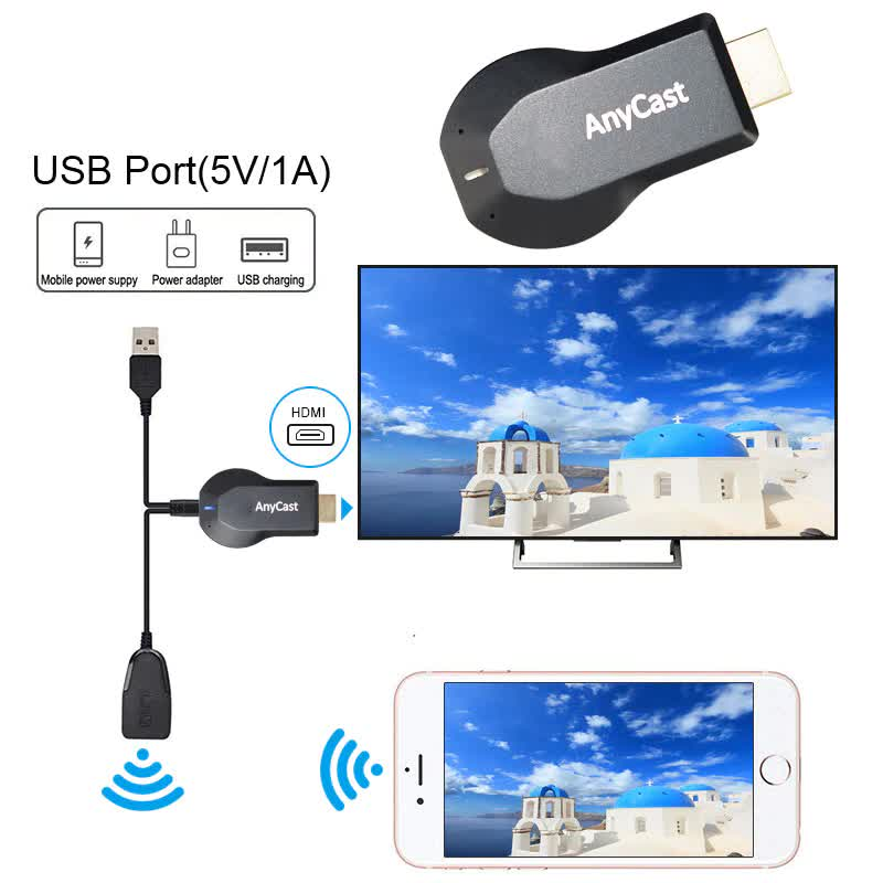 Anycast TV Stick 1080P M4 TV Dongle Wireless DLNA AirPlay Mirror HDMI TV stick Adapter Receiver Miracast HDMI For IOS Android
