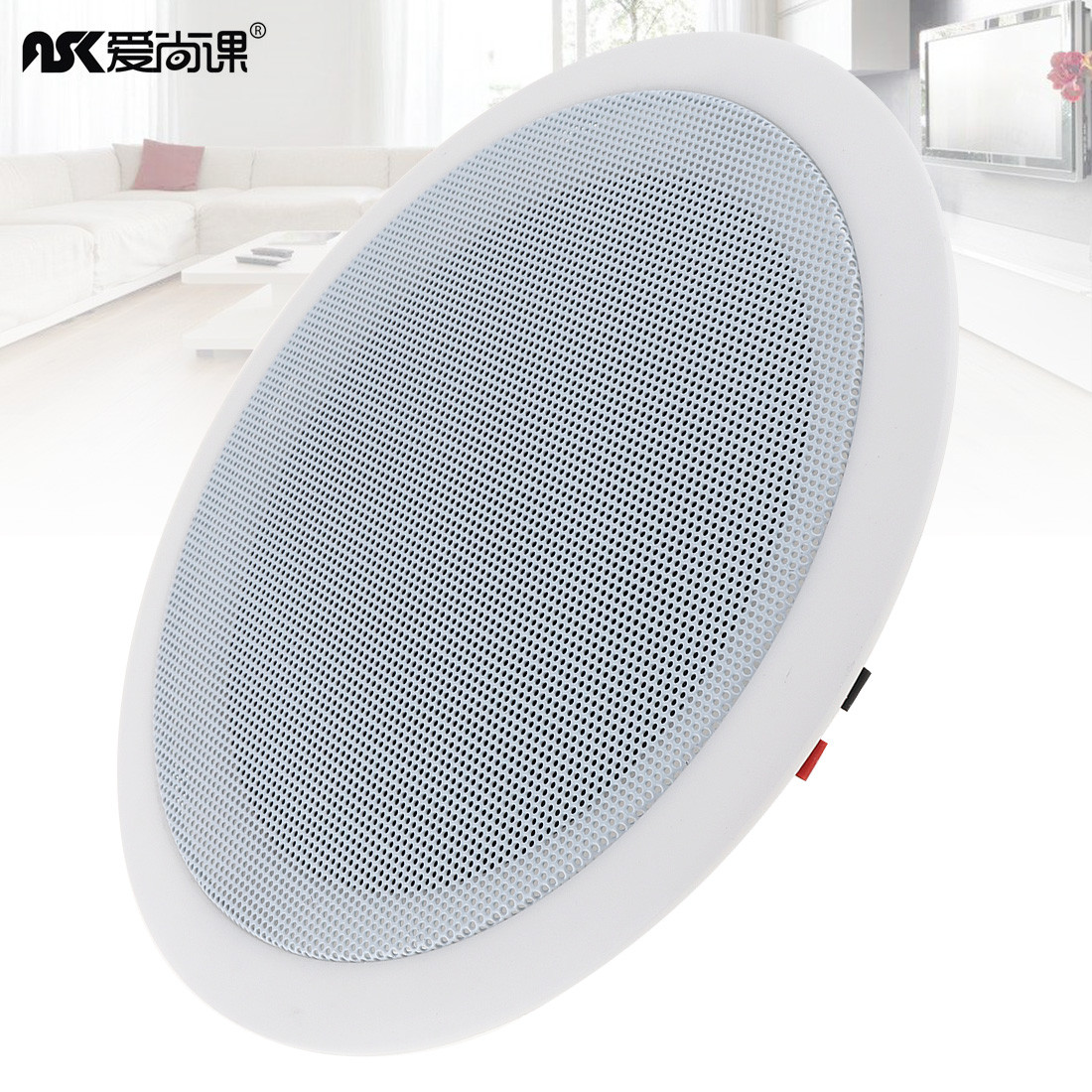 5 Inch 5W Fashion Input USB MP3 Player Ceiling Speaker Public Broadcast Background Music System Loudspeaker for Home Supermarket