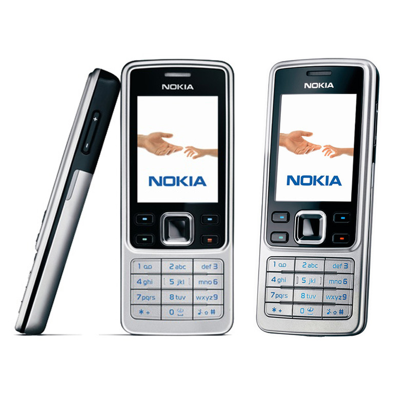 Original Nokia 6300 Mobile Phone Unlocked Black 6300 cellphone & Russian Arabic Hebrew English Keyboard
