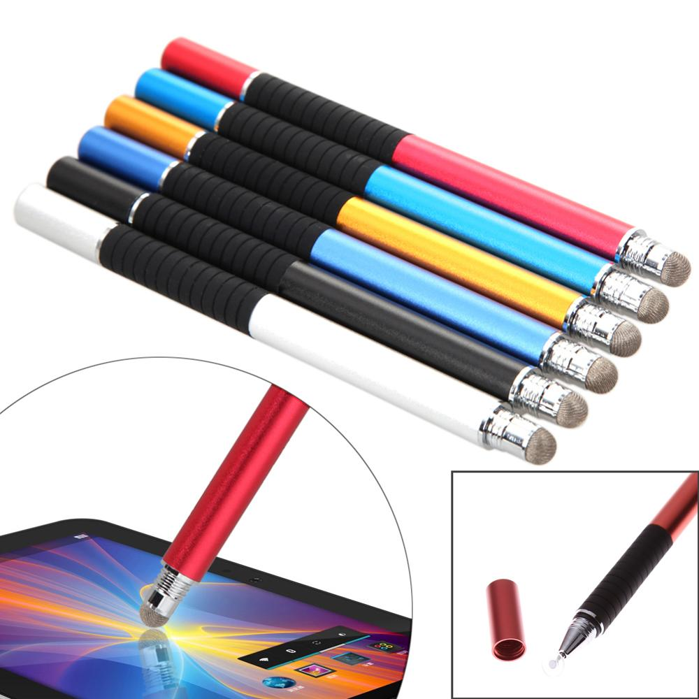 2 in 1 Mutilfuction Fine Point Round Thin Tip Touch Screen Pen Capacitive Stylus Pen For iPad iPhone All Mobile Phones Tablet