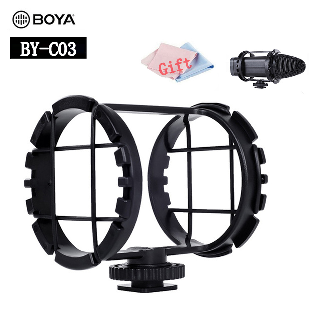 Microphone Shock Mount BOYA BY-C03 Shoe Shockmount for micorpohone 1