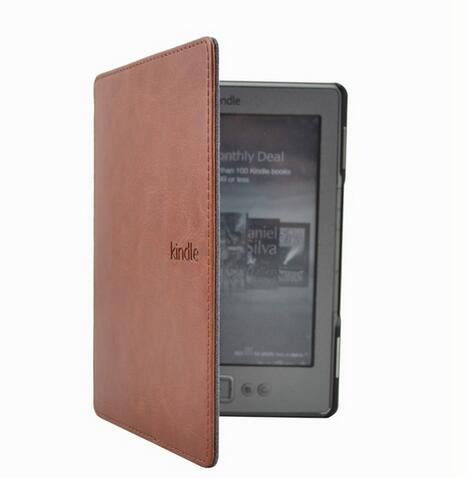 1PC Leather Cover Case for Amazon Kindle 4/5 E-book Reader 6