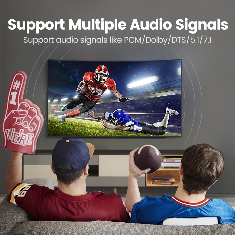 Ugreen Digital Optical Audio Cable Toslink Gold Plated 1m 2m 3m ...