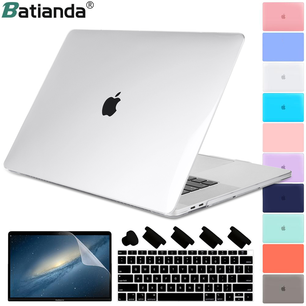 For New MacBook Retina Pro Air 13 15 2019 2018 A2159 A1932 A1990 Touch Bar & Keyboard Cover Clear Crystal Matte Hard Case